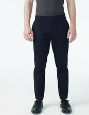 ARMANI EXCHANGE Authentic Refined Cotton Slim Fit Chino Pant Navy Retail $99.50