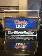 Vintage Coors Light Fluorescent Lighted Beer Sign. Excellent Condition.