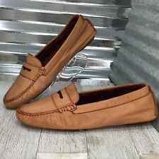 Johnson & Murphy Women's Leather Penny Loafer Driver Heel Loafer Shoe Size 10