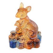 Liuli Crystal Chinese Zodiac Rat Ornament Table Decorations Christmas Gift
