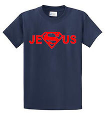 Super Jesus Mens Graphic Tees Regular to Big and Tall Sizes Port and Company
