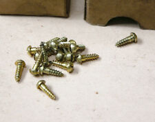 Southington Solid Brass Slotted Round Head Wood Screws 3/8x4,