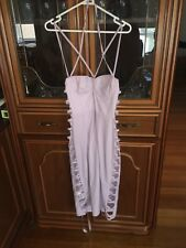 NEW House Of Cb Lilac Dress Mid Length Size Large See Through Sides