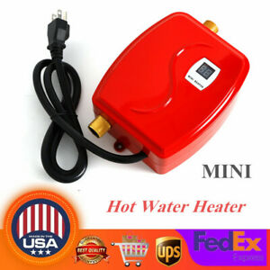 Instant Electric Water Heater Bath Kitchen Under Sink Faucet Hot Water System US