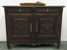 Antique French Sideboard - Oak Buffe tCabinet from Brittany -  k097