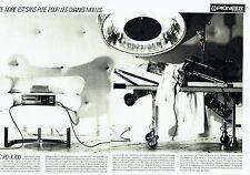 Publicité Advertising 087  1985    Pioneer  (2pages) laser disc PD-X700