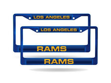 LA Rams NFL (Set of 2) Blue Painted Metal Laser Cut License Plate Frames