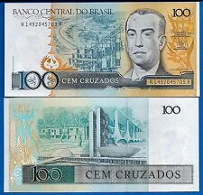 Brazil P-211 100 Cruzados Year ND 1986-1988 Uncirculated Banknote
