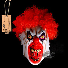 Latex Set of Hair Clown Green Halloween Mask Scary Horror Fancy Dress Costumes