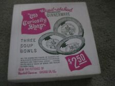 THE OLD CURIOSITY SHOP 3 Soup Bowls NEW IN SEALED BOX