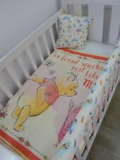 Winnie The Pooh Nursery Cot Quilt Set - 4 Piece Handmade - Gender Neutral