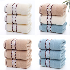 Cotton Towel 3-Piece Towels Set Hand & Face Towel Soft Absorbent 14 * 29 Inches