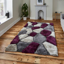 LARGE THICK SOFT 3D TEXTURED PILE PEBBLE STEPPING STONES NOBLE HOUSE RUG NH 5858