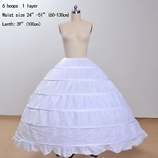 6 Hoops Cheap Wedding Accessories Ball Gown Petticoats For Wedding Dress