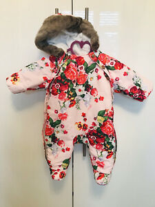 Ted Baker Girls Snowsuit 0-3 Months Immaculate