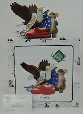 Fitz And Floyd Charming Tails Freedom Figurine 89/371 In Box-Eagle/American Flag