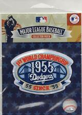 1955 Brooklyn Dodgers 1st World Series Official Patch MLB Jersey Logo