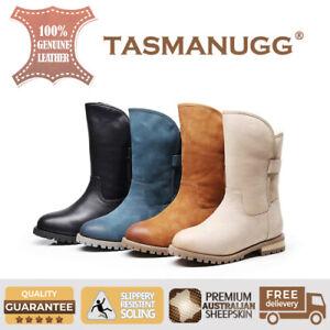 Tasman UGG-Patent Knight boots, Aus Sheepskin, Antislip, Water Resistant 6121