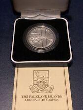 More details for falkland islands liberation crown. sterling silver proof