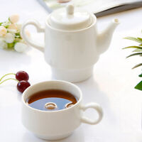 White Ceramic Teapot with a Tea Cup Porcelain Set for One, 250ML