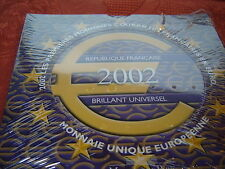(BU.31)  COFFRET FRANCE EURO 2002  BRILLANT UNIVERSEL