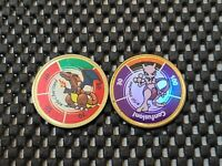 Vintage Nintendo Pokemon Battle Coin Game Medal Rare Promo MEWTWO CHARIZARD LOT
