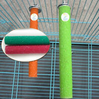 Colorful Pet Bird Parrot Chew Toys Paw Grinding Cage Stand Perches Budgie 3 Size