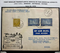 1939 Shediac Canada First Flight Airmail Cover FFC To Danzig Via Foynes Ireland