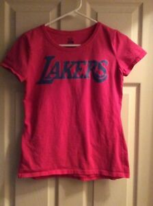 Los Angeles Lakers Pink T-Shirt Size Youth Small