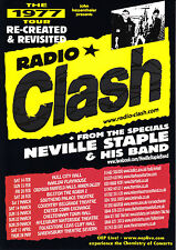1977 'RADIO CLASH' UK Tour Re-Created & Revisited + Neville Staple A5 Flyer New