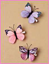 Pack of 3 Butterfly Hair Clips Beak Clip Ladies Girls Hair Accessories