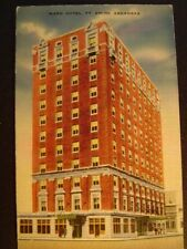 Ft. Smith AR Ward Hotel Postcard 1930s