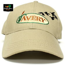 AVERY GREENHEAD GEAR GHG 12oz KHAKI CANVAS BALL CAP HAT TAN LOGO WITH DUCKS