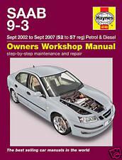 Haynes Manual Saab 9-3 Petrol Diesel 2002-2007 NEW 4749