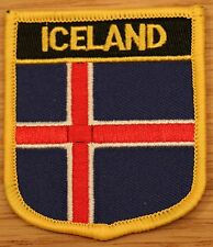 ICELAND Shield Country Flag Embroidered PATCH Badge P1