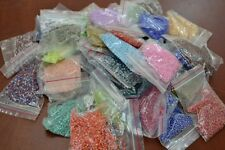 40 PACKETS ASSORT COLOR GLASS SEED BEADS 1 POUND #BD-141