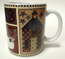 Lang And Wise Coffee Mug Cup ABC Sampler Ellen Stouffer Country Decor Teacher