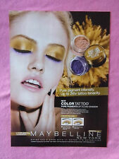 2013 Magazine Advertisement Page Maybelline Makeup Cosmetics Charlotte Free Ad