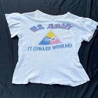 Original WWII US Army Armor Cavalry pt T-shirt Fort Leonard Wood Missouri