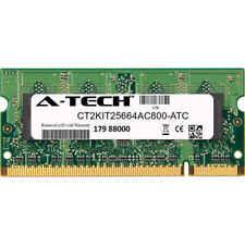 2GB DDR2 PC2-6400 SODIMM (Crucial CT2KIT25664AC800 Equivalent) Memory RAM