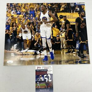 Kevin Durant Signed Warriors 11x14 Photo with  JSA COAFF00873
