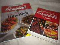 2 CAMPBELL'S COOKBOOK Treasury of Campbell's Recipe/Fabulous 1 dish Recipes