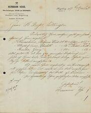 MAGDEBURG, Brief 1893, Hermann Voss, Elbe-Verladungen: AUSSIG u. BODENBACH