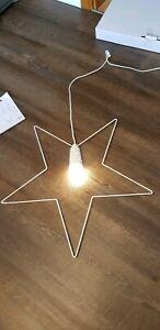IKEA STRALA Weihnachtsstern Hängeleuchte Lampe WEISS Stern OVP NEUwertig