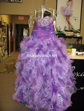 Tiffany Quinceanera 26674 Purple Orchid Ball Gown Dress sz 12