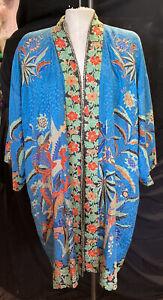 "Vintage Silk kimono /  60"" Chest Measurement"