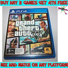 GTA V (GRAND THEFT AUTO V) Game (Playstation 4, PS4) Australian R Rating