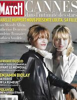 Paris Match French Magazine Cannes Isabelle Huppert Roman Polanski Africa 2010