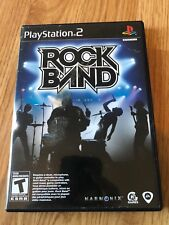 Rock Band (Sony PlayStation 2, 2007) Game Only BT1
