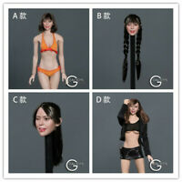 """GACTOYS 1/6 12"""" Cute Female Figure Expression Head Sculpt Carved For Lovely Girl"""